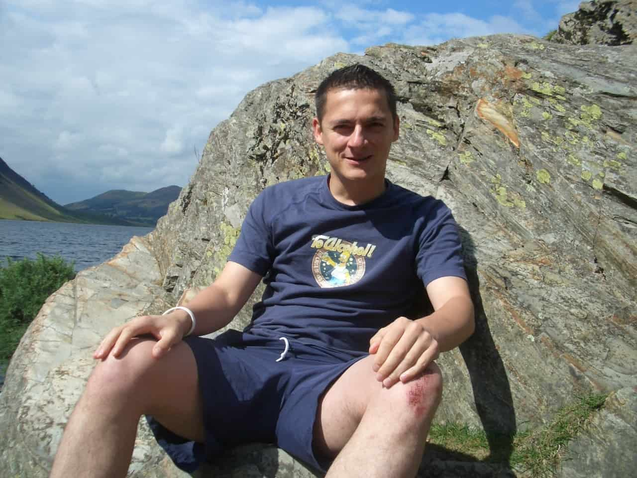 Me, enjoying a sunny day in the Lakes