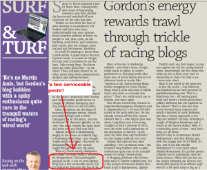 As seen on Racing Post
