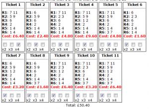 Newbury's Friday placepot tickets