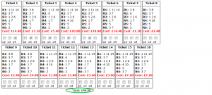 Yarmouth Tuesday Placepot tickets