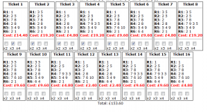 Monday's Musselburgh placepot tickets