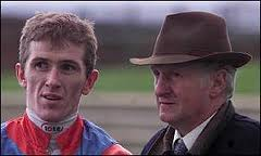 A fresh-faced AP McCoy back in the day gets instructions from Martin Pipe
