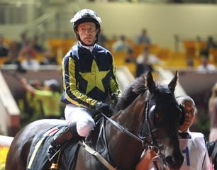 Kieren Fallon rode at the Global Challenge in Kranji, Singapore