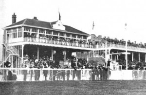 Ayr's old grandstand for the Western Meeting