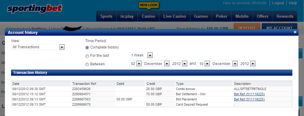 Sporting Bet payout on Sprinter Sacre
