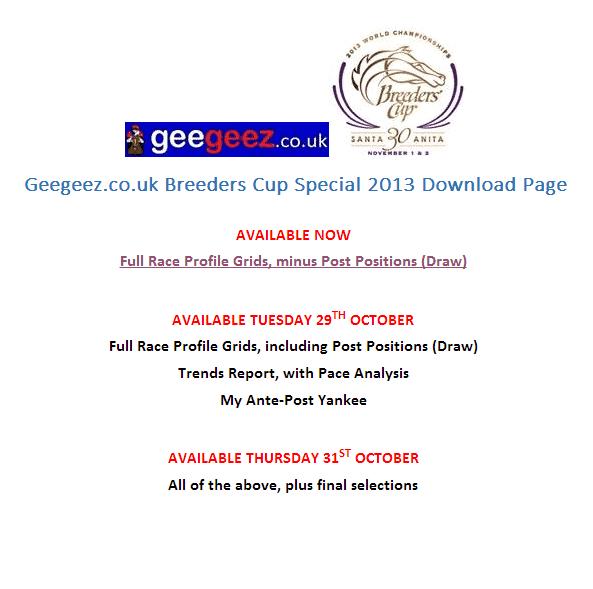 Breeders Cup Special Package 2013