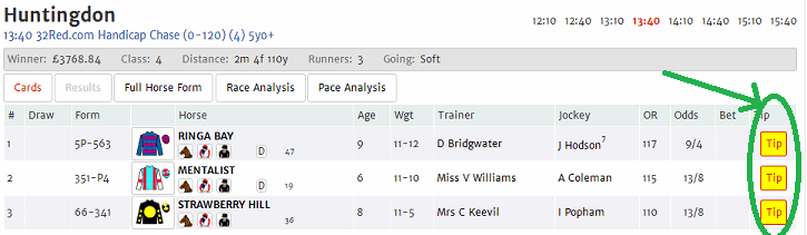 Easiest way to tip your fancy in the geegeez tipping league...