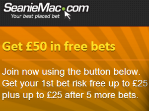 Win £150 in free bets with Seanie Mac
