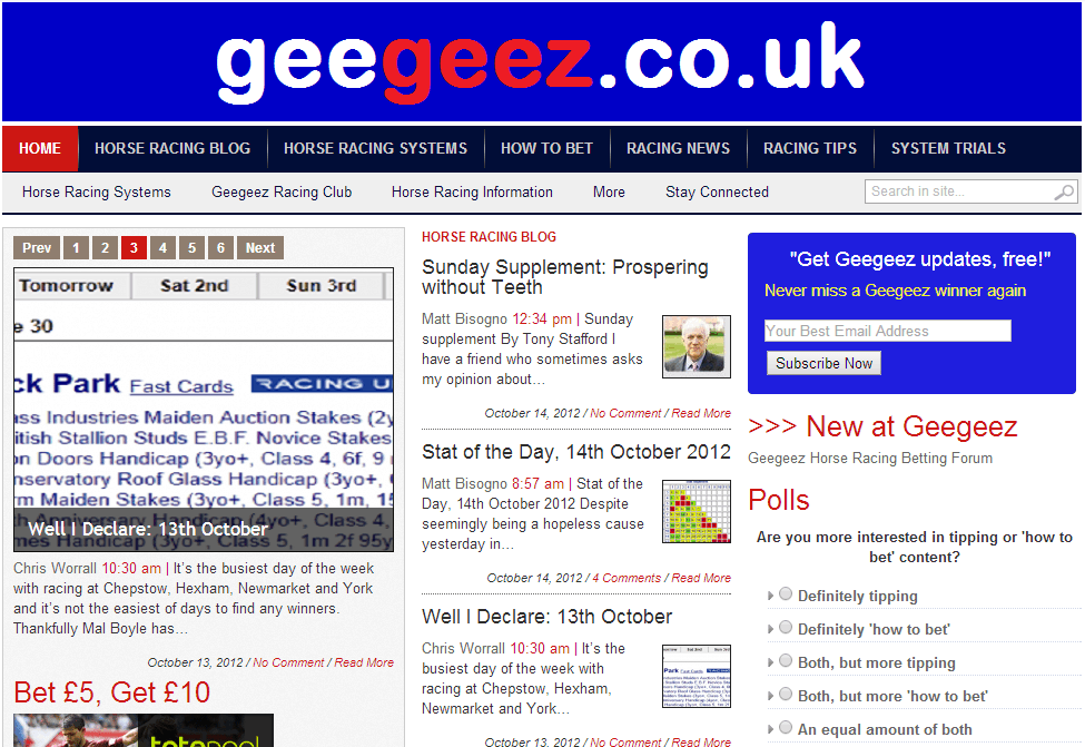 Pretty much as you know geegeez today...
