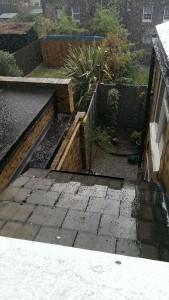 Thunder, lightning, hail and rain...