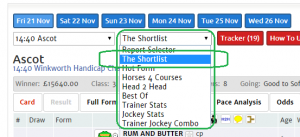 Finding The Shortlist in Report Selector