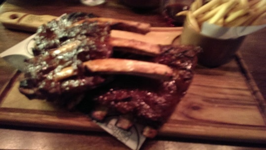 The Rib and Rib Combo. Maybe just one ribs next time...