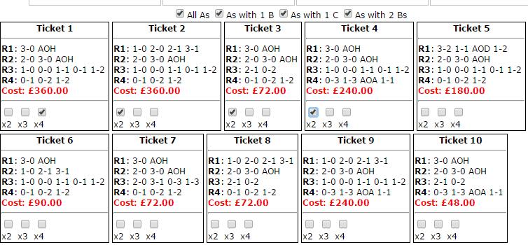 The Pick4 Ticket Breakdown