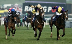 Cheltenham Gold Cup 2014 finish, with Lord Windermere just prevailing