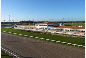 The new permanent grandstand at Chelmsford City racecourse