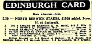 Newspaper racecards haven't changed in 35 years!