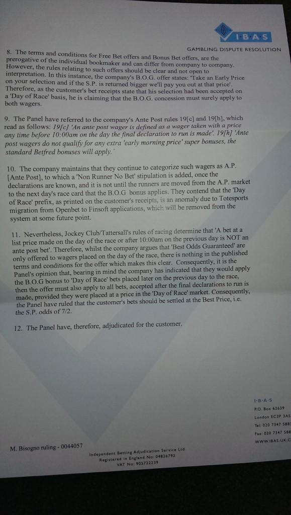 IBAS Settlement #2