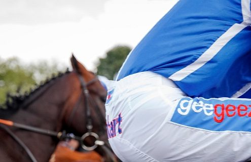 David Probert sports the geegeez.co.uk logo at Royal Ascot earlier this month