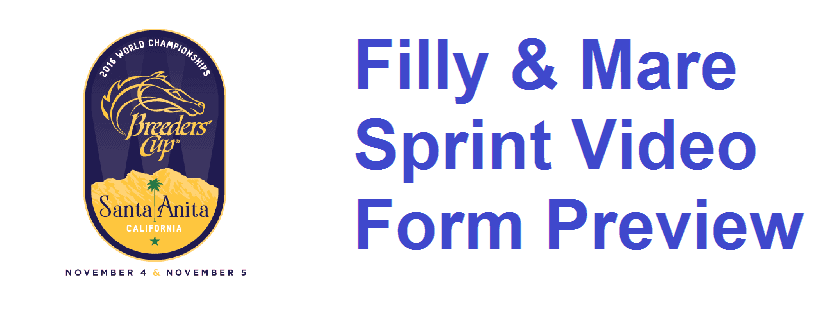 Breeders' Cup Filly & Mare Sprint Video Form Guide