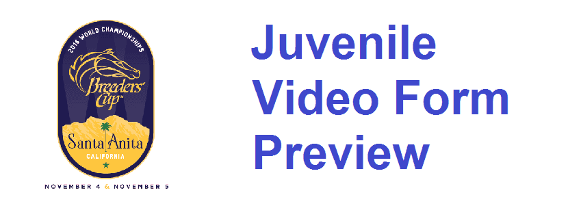 2016 Breeders' Cup Juvenile Video Form Preview