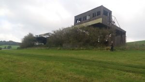 The remaining stand at Buckfastleigh racecourse