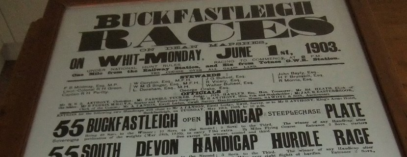 Buckfastlleigh used to race twice a year