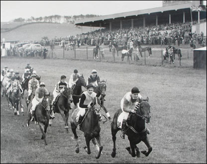 Racing at Buckfastleigh in 1955