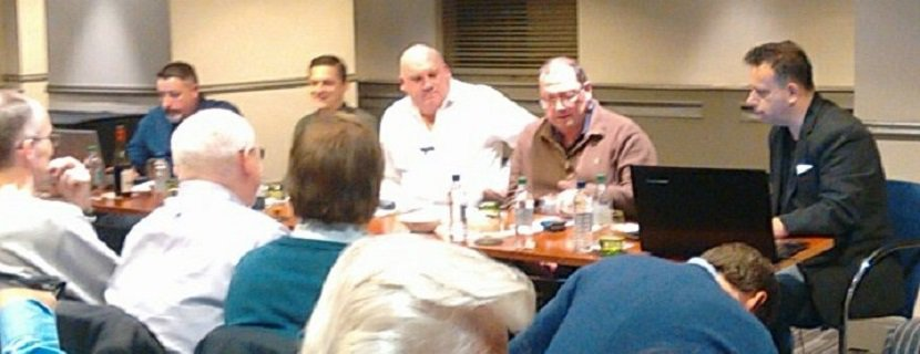 London Racing Club's National Hunt preview panel (l-r, Rory Delargy, Matt Bisogno, Tony Calvin, Paul Kealy, Paul Jacobs)