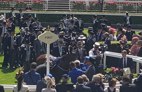 Godophin assembled an enormous entourage to greet Ribchester's meeting-opening victory