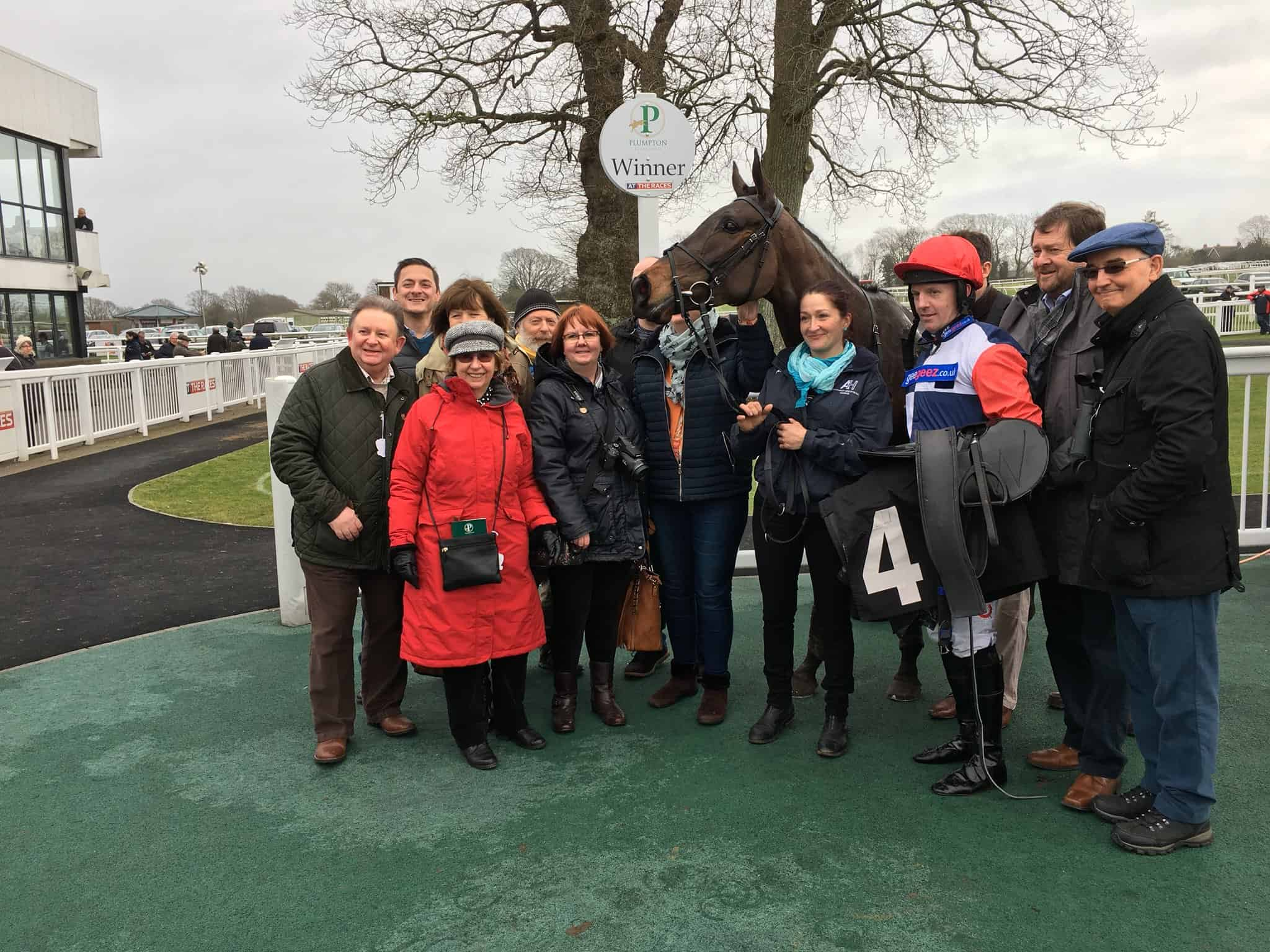 The My Dance syndicate, and jockey Noel Fehily, after her win at Plumpton