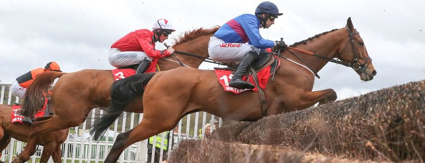 CHASE THE SPUD and Paddy Brennan win the betfred Midlands National for trainer Fergal O'Brien at Uttoxeter 18/3/17 Photo John Grossick / Racingfotos.com