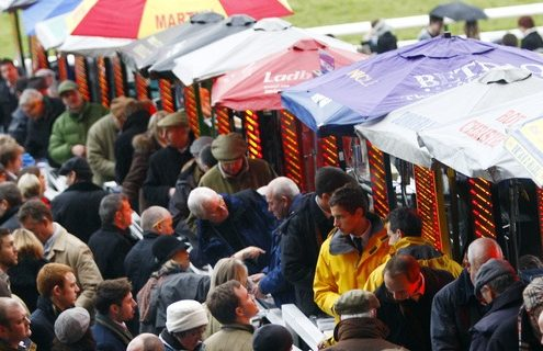 Bookmakers working on the rails Pic Dan Abraham - racingfotos.com Cheltenham 1.1.11