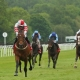 KNIGHT TO BEHOLD ridden by Richard Kingscote beating Kew Gardens (left) in The Betfred Derby Trial Stakes (Listed) at Lingfield 12/5/18 Photo Ian Headington / Racingfotos.com