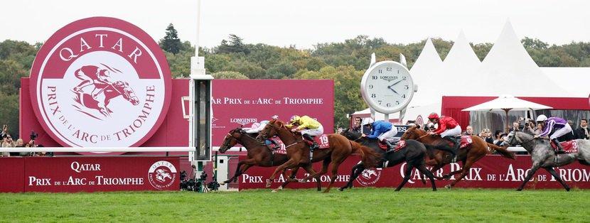 07.10.2018, Paris, LONGCHAMP, FRANCE. Enable with Frankie Dettori up wins the Prix de l'Arc de Triomphe. at Royal Ascot racecourse. Photo FRANK SORGE/Racingfotos.com