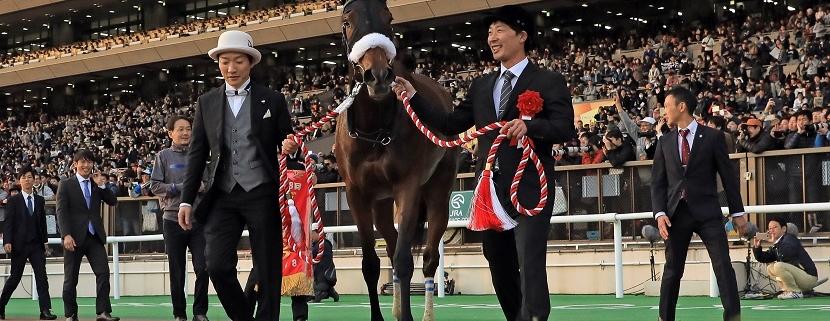 25.11.2018, Tokyo, Japan, Almond Eye after winning the 38th Japan Cup. Photo FRANK SORGE/Racingfotos.com