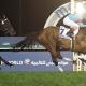 30.03.2019, Dubai, UAE, Almond Eye with Christophe Lemaire up wins the Dubai Turf at Meydan racecourse. Photo FRANK SORGE/Racingfotos.com