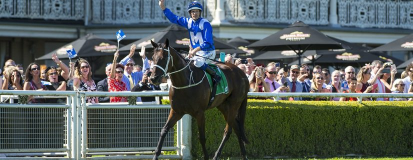 WINX (Street Cry - Vegas Showgirl) ridden by Hugh Bowman wins the G1 Chipping Norton Stakes, Randwick, Australia. Photo - Bronwen Healy / Racingfotos.com