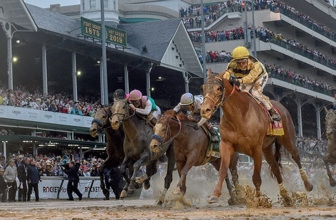 Country House, Flavien Prat, win the 2019 Kentucky Derby, Trained by Bill Mott Churchill Downs, Louisville, KY 5-3-19, Photo by Mathea Kelley / Racingfotos.com