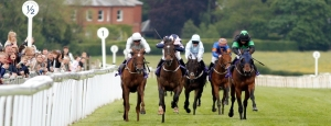 Beverley Racecourse has a very stiff uphill finish - Pic Steven Cargill / Racingfotos.com