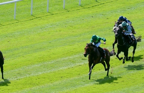 Curragh 29-6-19 SISKIN & Colin Keane are easy winners of the Group 2 Gain Railway Stakes. Photo Healy Racing / Racingfotos.com
