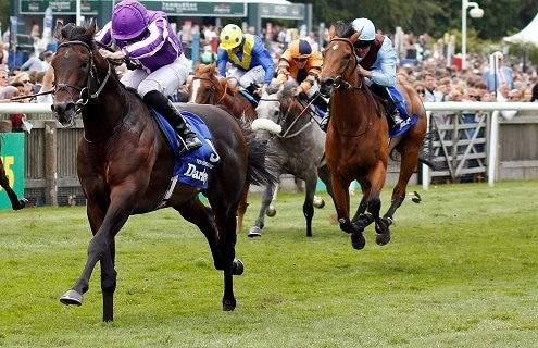 TEN SOVEREIGNS (Ryan Moore) wins The Darley July Cup Newmarket 13 Jul 2019 - Pic Steven Cargill / Racingfotos.com""