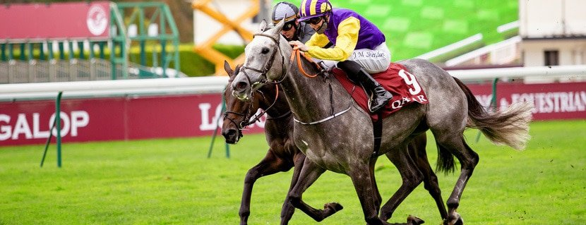 Princess Zoe (JM. Sheridan) wins Qatar Prix Du Cadran Gr.1 in ParisLongchamp, France, 03/10/2020, Photo Zuzanna Lupa / Racingfotos.com