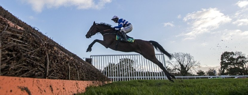 Cyrname & Harry Cobden are clear jumping the last fence on way to winning. Wetherby 31-10-20. Photo George Selwyn / Racingfotos.com